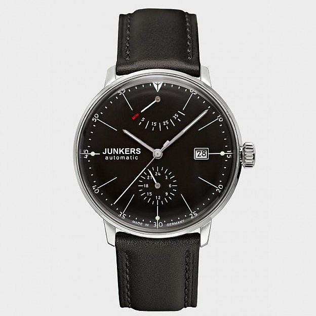 Armbanduhr Junkers Bauhaus Gangreserve, schwarz