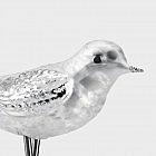 Lauschaer Glasvogel eisweiß, 3er-Set