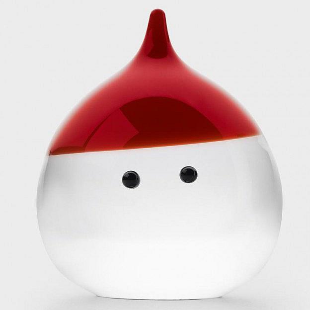 Weihnachtsmann Kristallglas groß