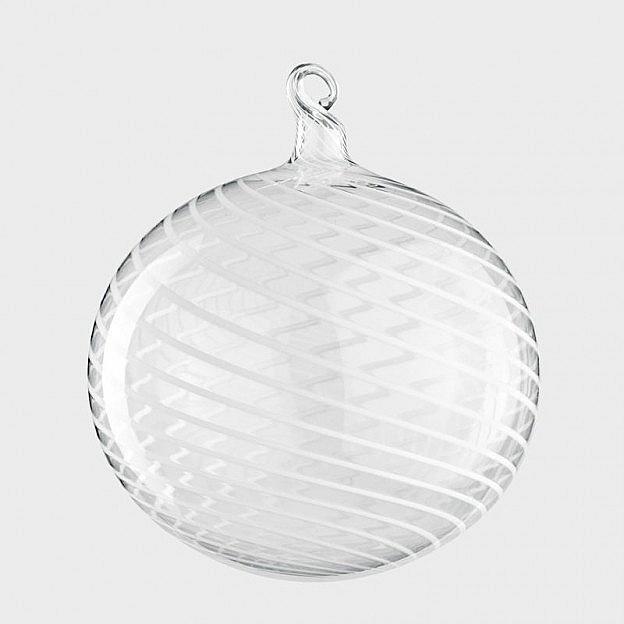 Lauschaer Christbaumkugel Fadenglas 8 cm, 3er Set