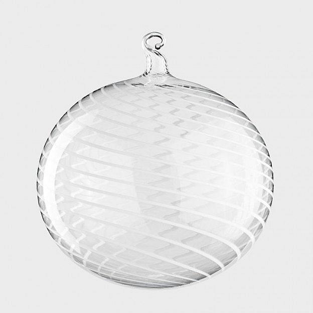 Lauschaer Christbaumkugel Fadenglas 10cm, 2er Set