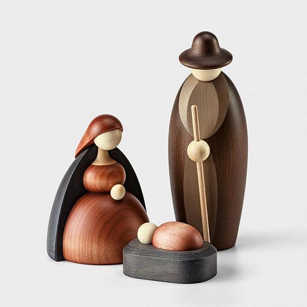 Krippenfiguren Heilige Familie, Lindenholz