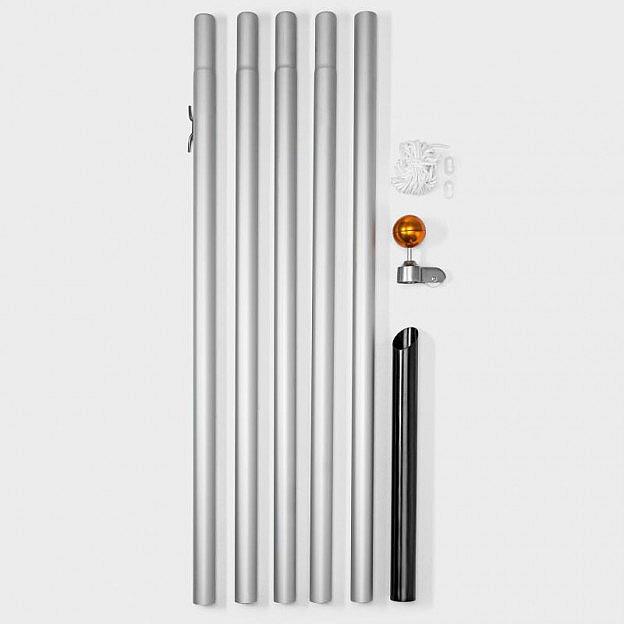 Mast für Lichterkettenbaum 600 cm, Aluminium