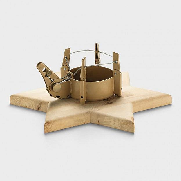 Christbaumständer Zirbenholz mit Einseiltechnik