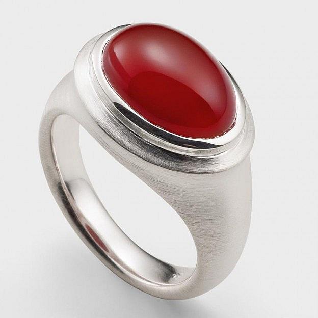 Ring Sterlingsilber mit Karneol passend zur Armspange