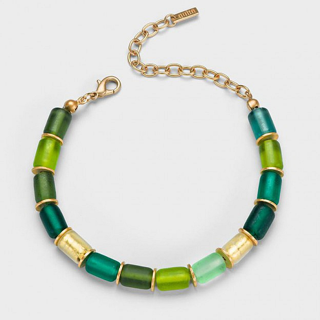 Armband Muranoglas zylindrisch, grün