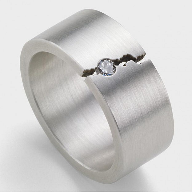 Ring Ursprung, Sterlingsilber mit Diamant 0,1 ct