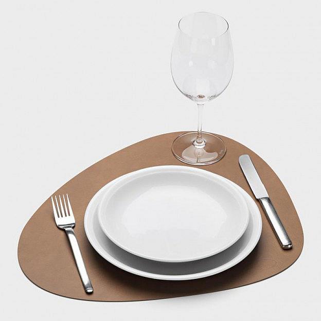 2 Tischsets Recyclingleder, beidseitig einsetzbar