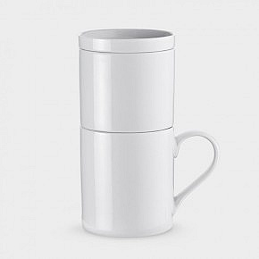 kaffeezubereiter fur eine tasse porzellan