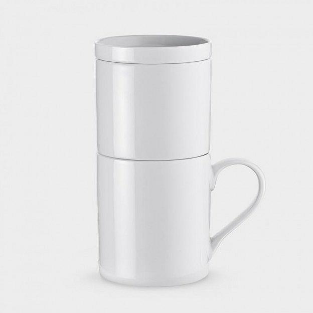 Kaffeezubereiter für eine Tasse, Porzellan