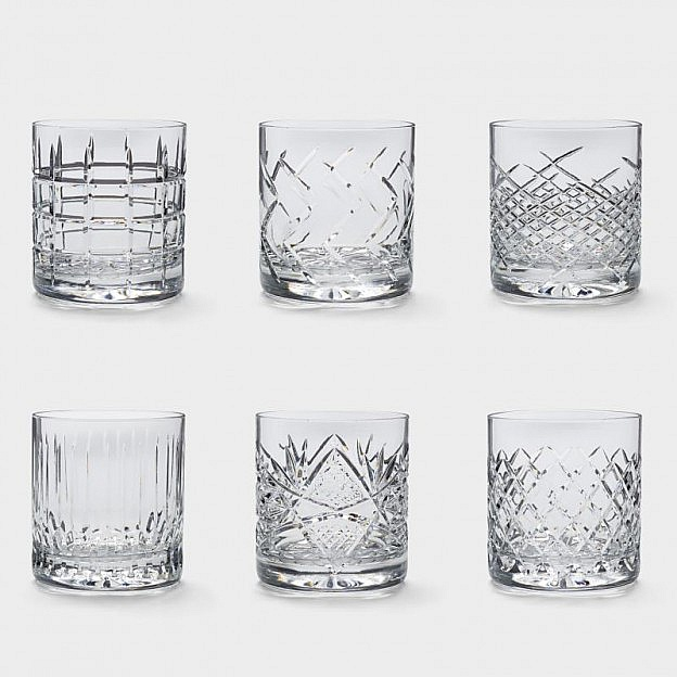 Whiskeygläser mundgeblasen, 6er-Set