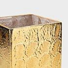 Würfelvase Kristallglas goldbeschichtet