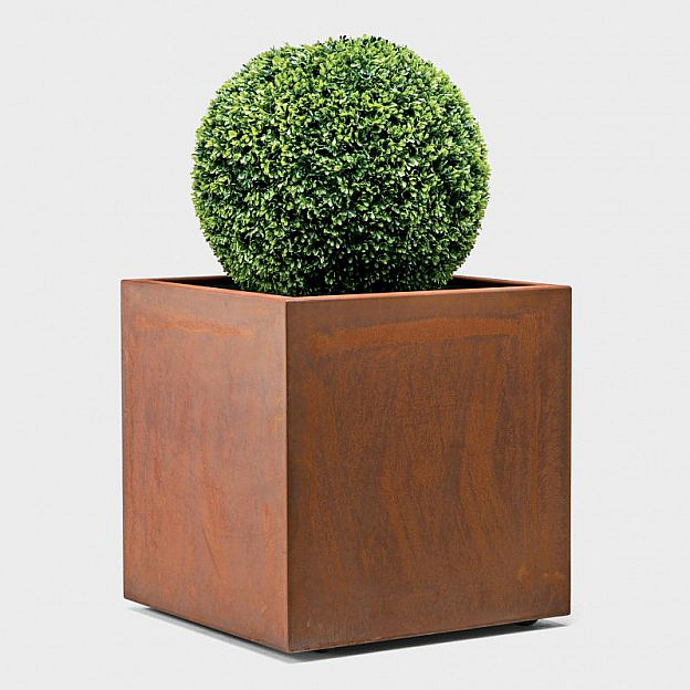Pflanzengefäß Kubus Cortenstahl