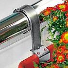 Blumenkasten-Halterung für rundes Geländer, 2er-Set