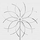 Windrad 70 cm, Edelstahl