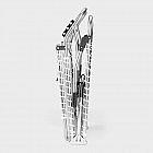 Dreibein-Sonnenliege XXL, weiß