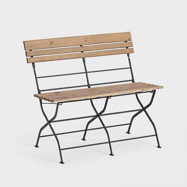 Gartenbank klappbar Stahl/Holz