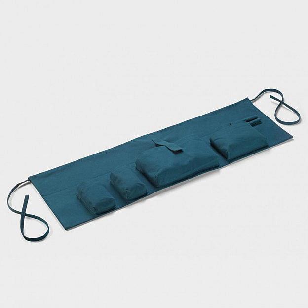 Seitentasche Baumwolle, blau