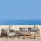 Lounge-Gartensofa Teak
