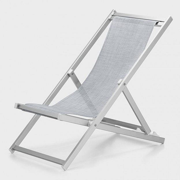 Deckchair Aluminium eloxiert, silber