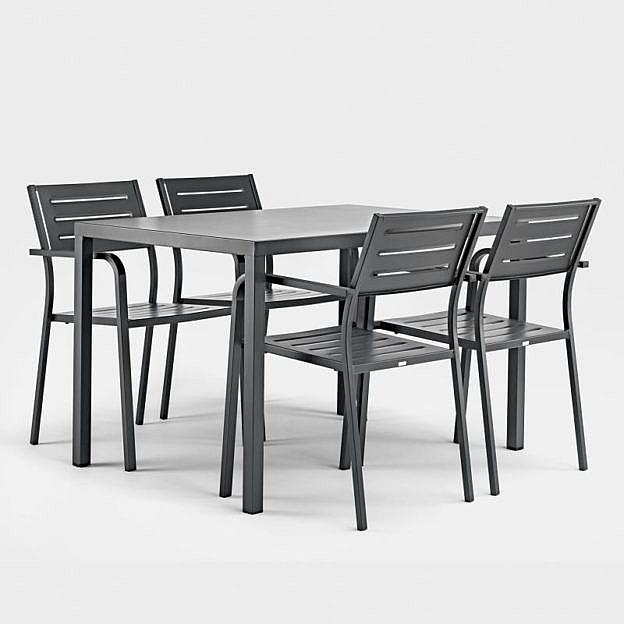 Balkon Tisch 120x80.Gartentisch Ares Stahl 120 X 80 Cm