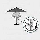 Sonnenschirm Aluminium mit Kurbel, taupe