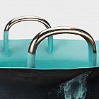 Schwere Wasserspringschale Bronze, 60 cm